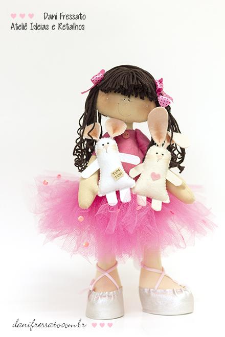 Boneca Artesanal - Bailarina