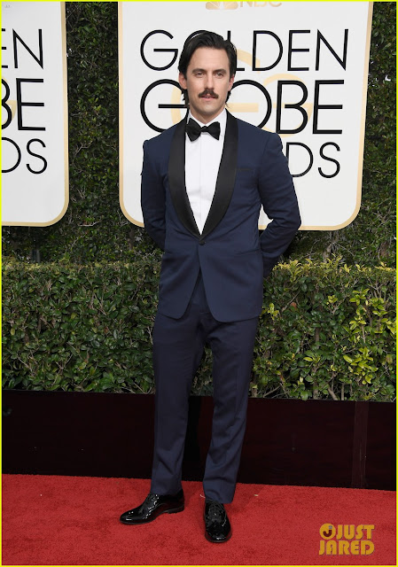 milo ventimiglia, ralph lauren, golden globes awards, moda hombres, looks alfombra roja