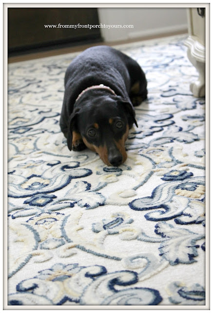 French Country Farmhouse Dining Room-Miniture Doxie- From My Front Porch To Yours