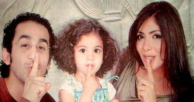 صور احمد حلمى وزوجتة منى زكى وبنتهم لي لي