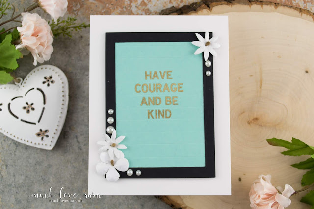 This easy Letterboard style card was created with the brand new Letterboard Sentiments stamp set from the NEW Fun Stampers Journey 2018-2019 Annual Catalog.  Get instructions on this simple letterboard recreation. #fsjallday