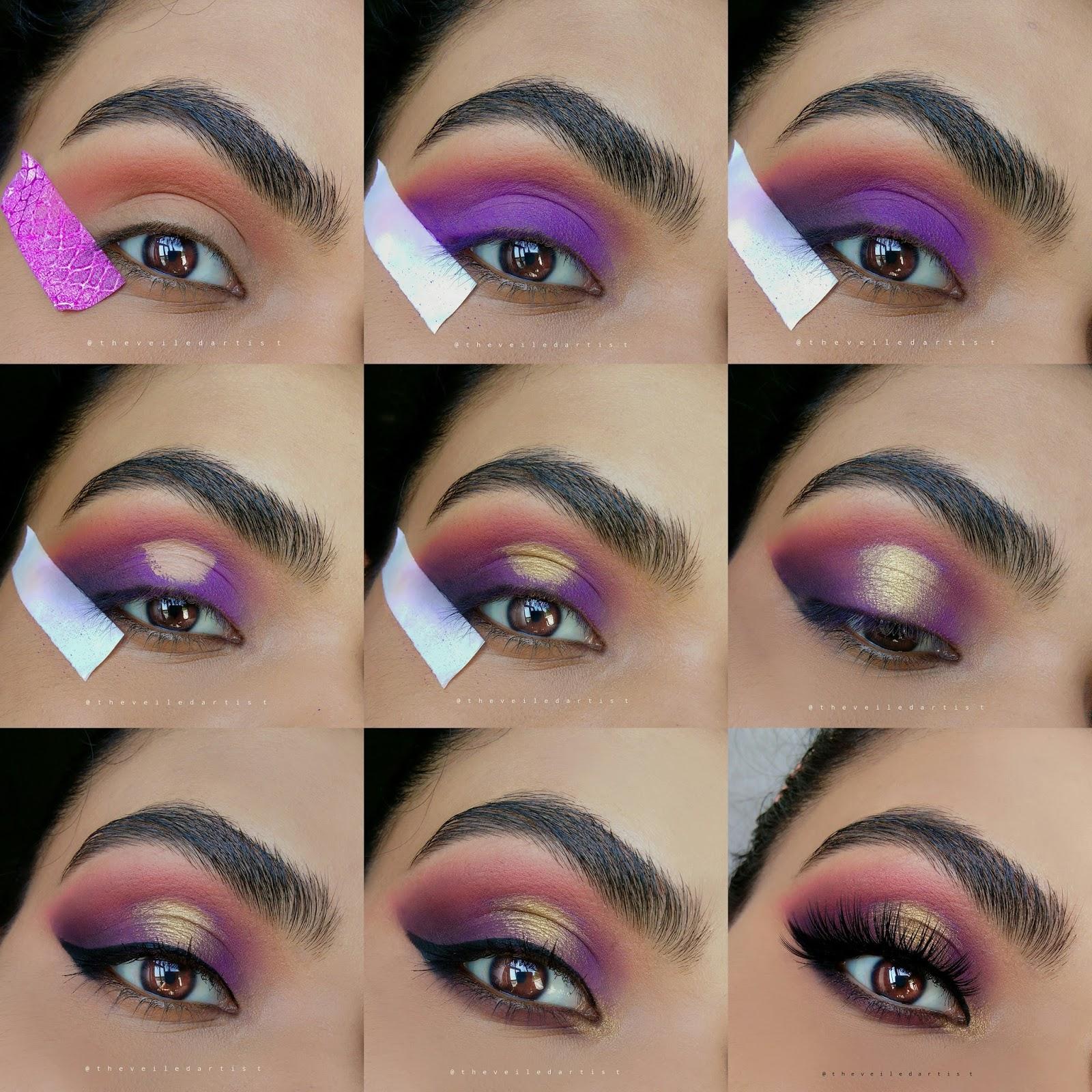 Purple Gold Spotlight Smokey Eyes