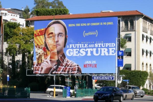 Futile Stupid Gesture Netflix billboard