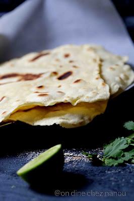 tortillas de blé , maison