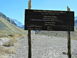 Sendero Mirador - Trilha ao Mirante do Aconcágua, Parque Provincial Aconcagua