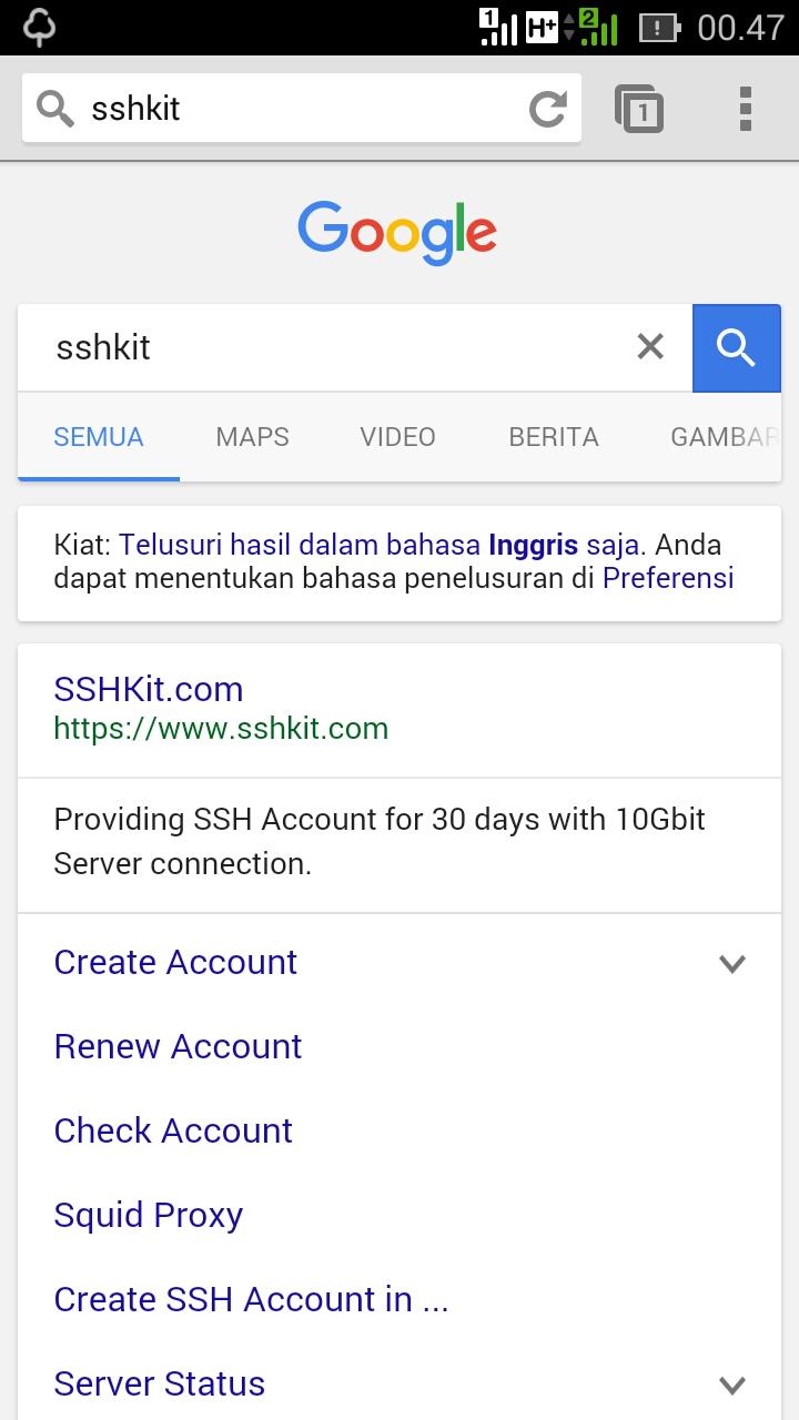 Cara Membuat Akun SSH SGDO Premium Gratis 1 Bulan