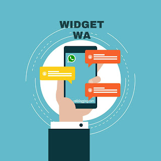 membuat widget link wa di blog