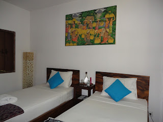 twin beds in shared room at Soulshine, Bali