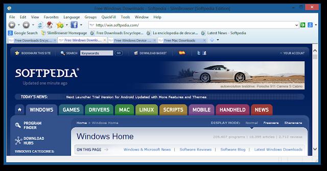 تحميل متصفح سليم بروسر مجانا للكمبيوتر SlimBrowser 7.0