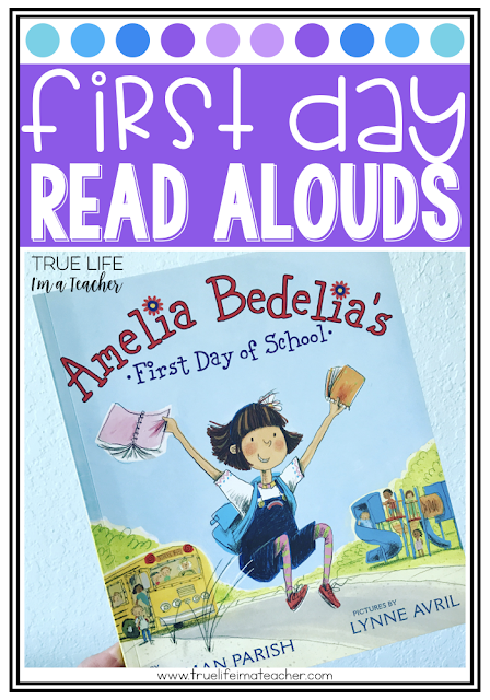 Books and read alouds for the first day of school, and the first week of school. Great for building a community in your classroom.