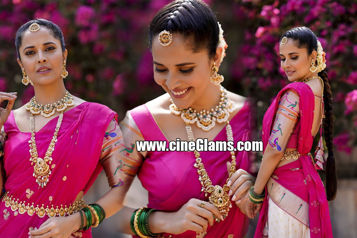 Anchor Anasuya Bharadwaj Beautiful Pics In Half Saree