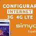 Configurar Internet 4G LTE SimYo España 2018
