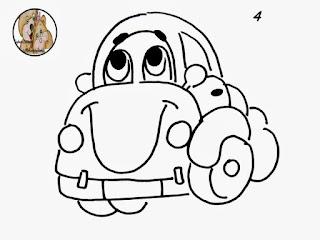 desenho de carrinho para pintar