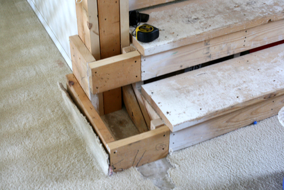 Amazing We Also Took Off All The Stair Treads One At A Time And Sanded Them, To Get  All The Junk Off  Namely The Heck A Ugly Plaster Texture That Landed On The  ...