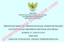 Permenpan RB No 31 [Tahun] 2018 (Tentang) Jabatan Fungsional TEKNISI PERKEBUNRAYAAN