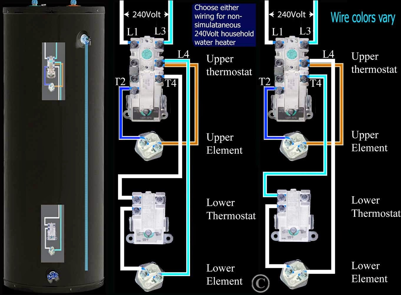 Electric Work: How to figure Volts=AmpsWatts for residential water heater