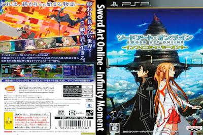 Jogo Sword Art Online - Infinity Moment PSP Full ISO + Emulador DVD Capa