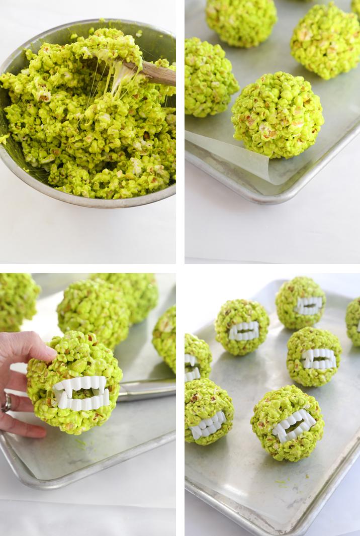 Monster Popcorn Balls Sprinkle Bakes