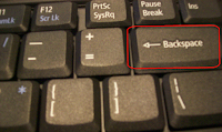 Backspace key Virus