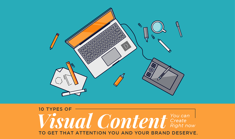 Never face creative block again. Bookmark this resource, now! titled: 10 Types Of Visual Content You Should Include in Your Marketing Strategy - #infographic