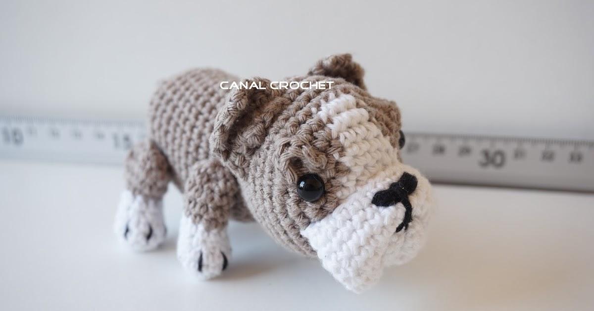 Osito Amigurumi Tutorial Canal Crochet : CANAL CROCHET: Perro Bulldog amigurumi tutorial