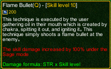naruto castle defense 6.3 Flame Bullet detail