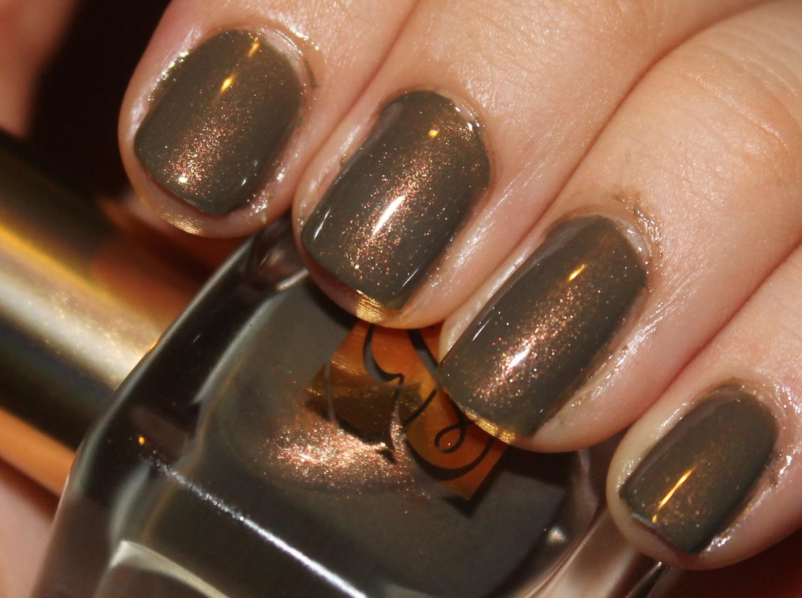 The Dark Side of Beauty: Estee Lauder \'Metallic Sage\' Nail Lacquer