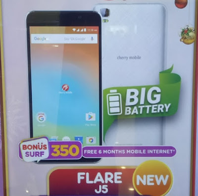 Cherry Mobile Flare J5; Quad Core with 4500mAh battery for Php3,699
