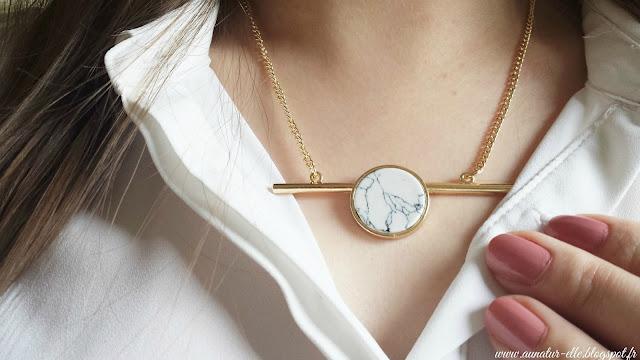 collier marbre - la fée qui frippe
