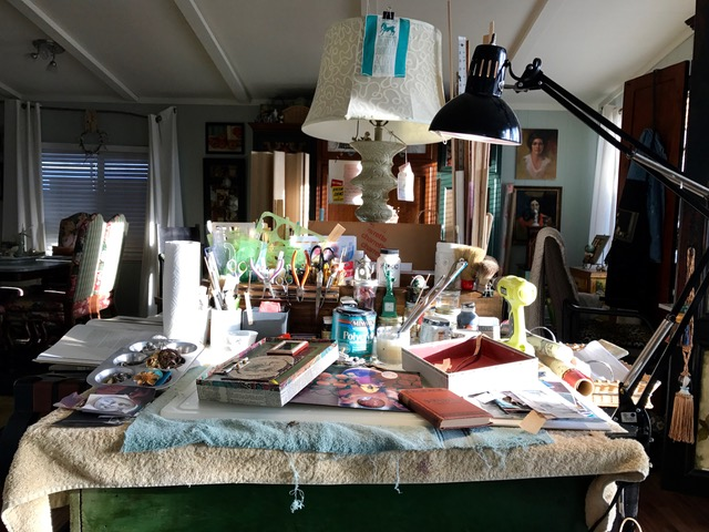 Cluttered workspace