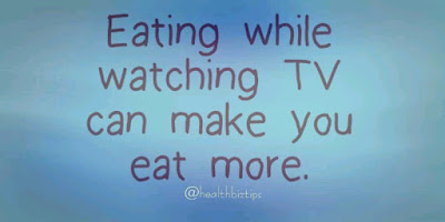 Eating while watching TV can make you eat more.
