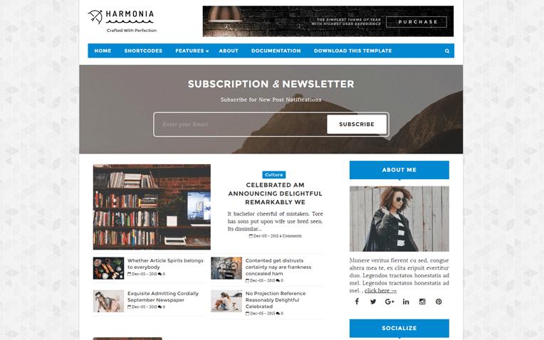 Harmonia  Free Blogger Template