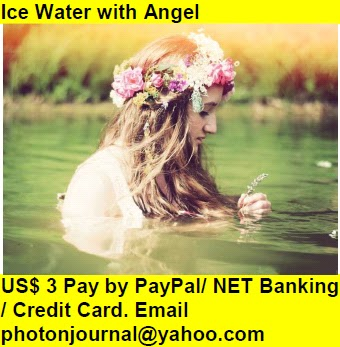 Ice Water with Angel  hot girl cute