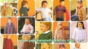 25 Prendas Infantiles para Tejer - de 0 a 5 años / Paso a paso con moldes y patrones