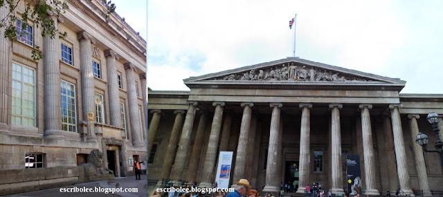 Las dos entradas del Museo Británico