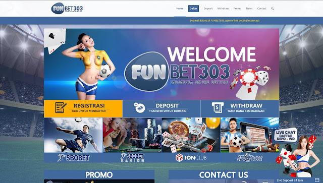 Funbet303 Agen Bandar Bola Sbobet Judi Casino Online Terpercaya