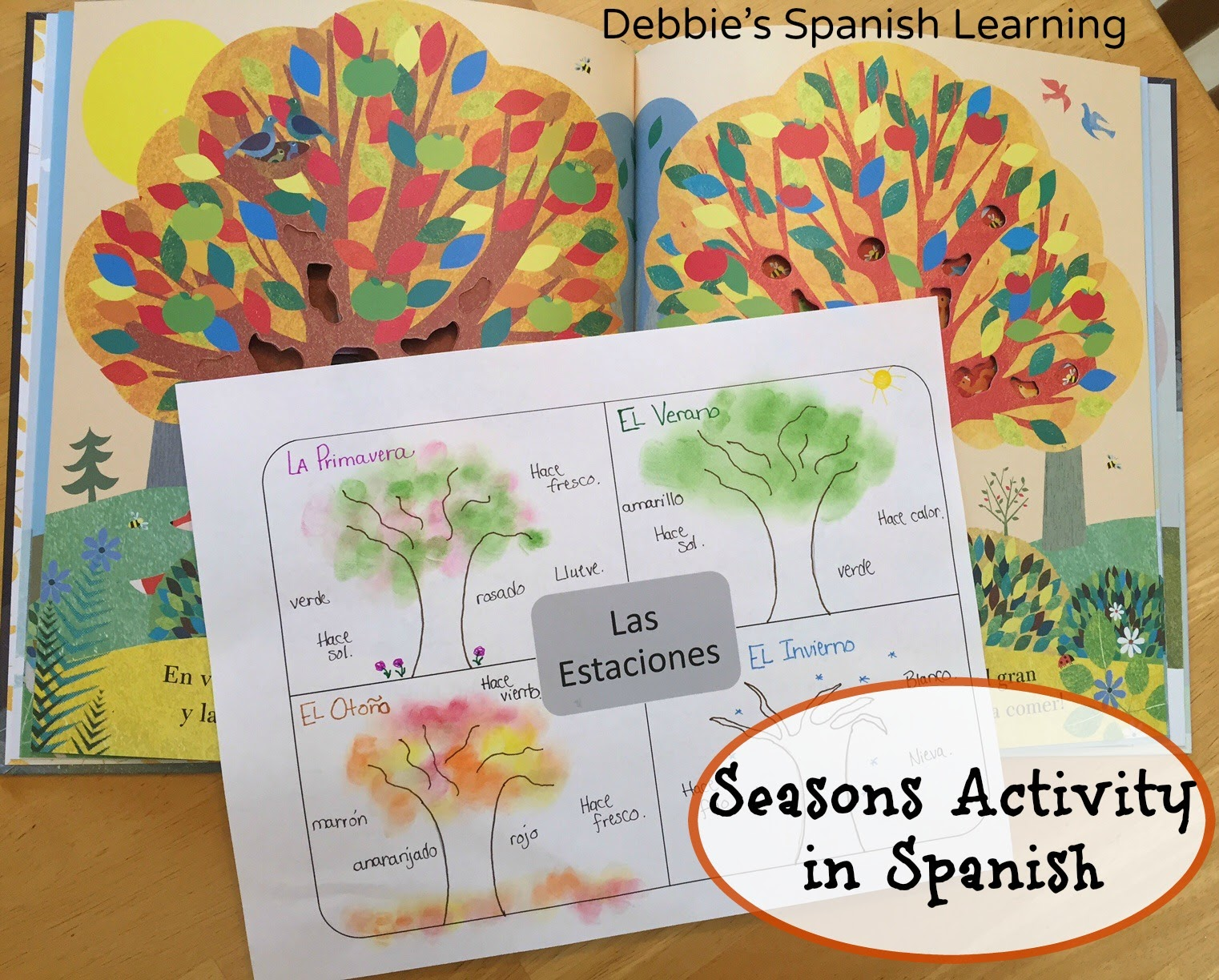 photo regarding Seasons Printable titled Debbies Spanish Discovering: Seasons Things to do in just Spanish