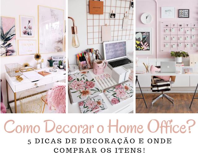 Dicas e onde comprar os itens para decorar o home office