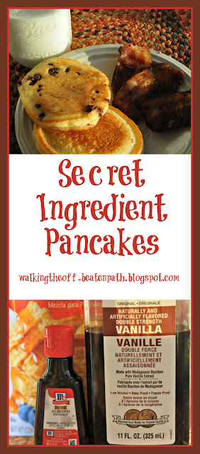 Two secret ingredients that will make you pancakes heavenly.