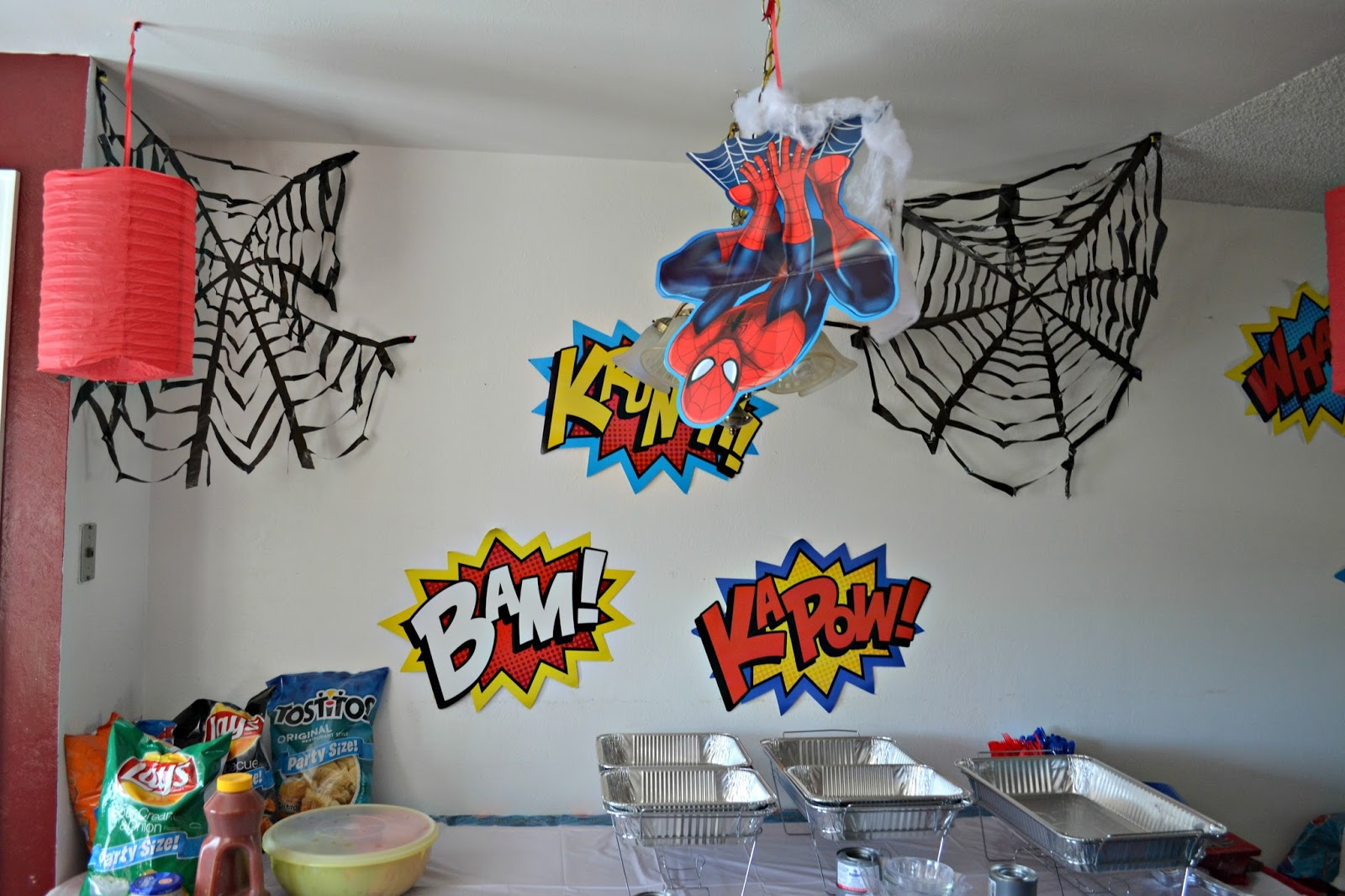 Superhero Themed Bedroom A Spidery Spider Man Birthday Party Building Our Story