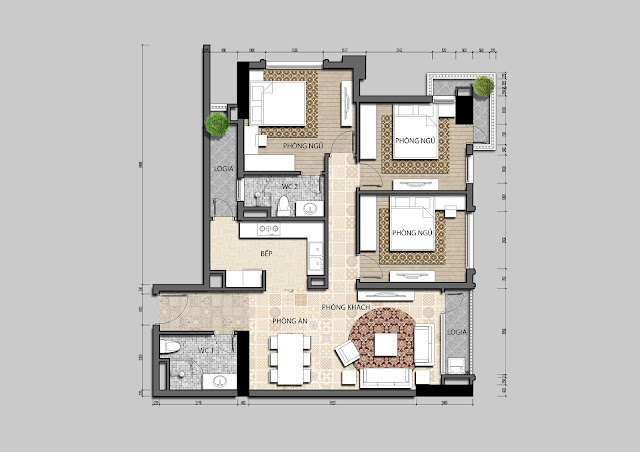 Thiết kế căn hộ điển hình Iris Garden