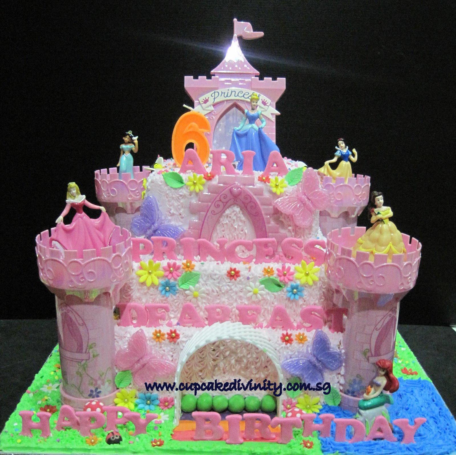 3 Tier Princess Castle Cake