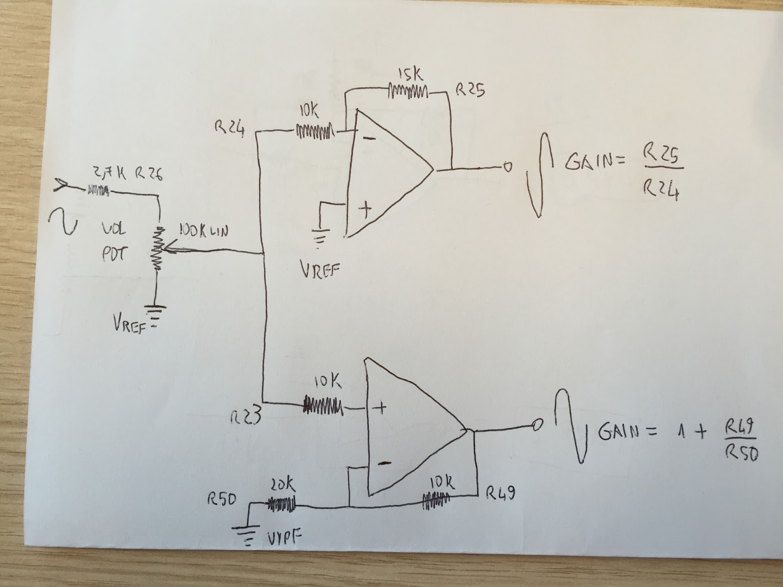 Ovation Op Pro Reverse Engineering Draft Of The Post Volume Circuit Diagram Potentiometer