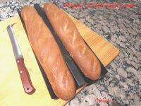 Baguettes de harina integral y espelta