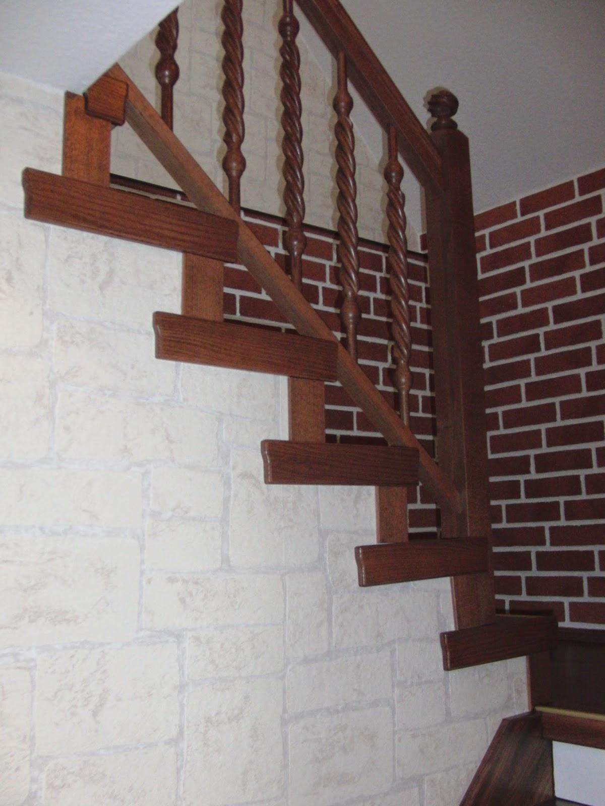 Treppenrenovierung - Wangenverkleidung, innenseitig