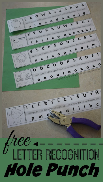 FREE Alphabet Hole Punching