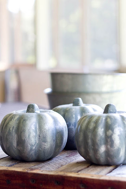 galvanized pumpkins diy