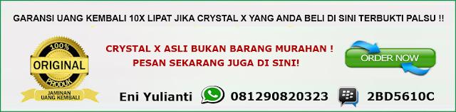 Crystal x luntur asli atau palsu?