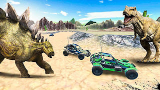 Game Dino World Car Racing V1.0 MOD Apk For Android