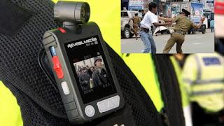 police uniform camera